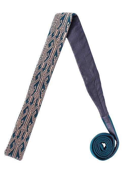 Corbata Azul con Rosa
