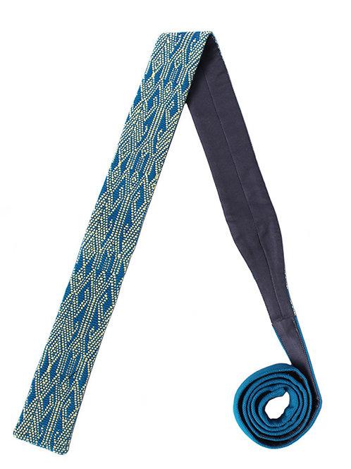 Corbata Azul con Crema