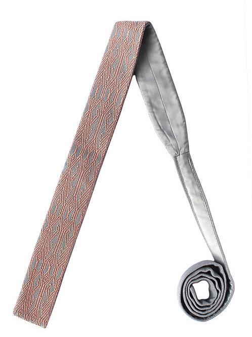 Corbata Gris con Rosa