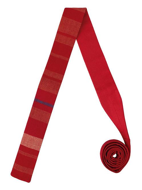 Corbata Rayada Roja
