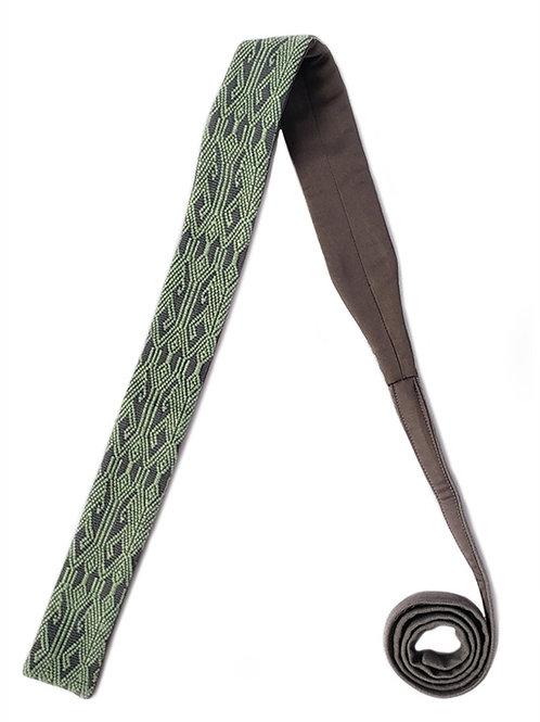 Corbata Gris con Verde