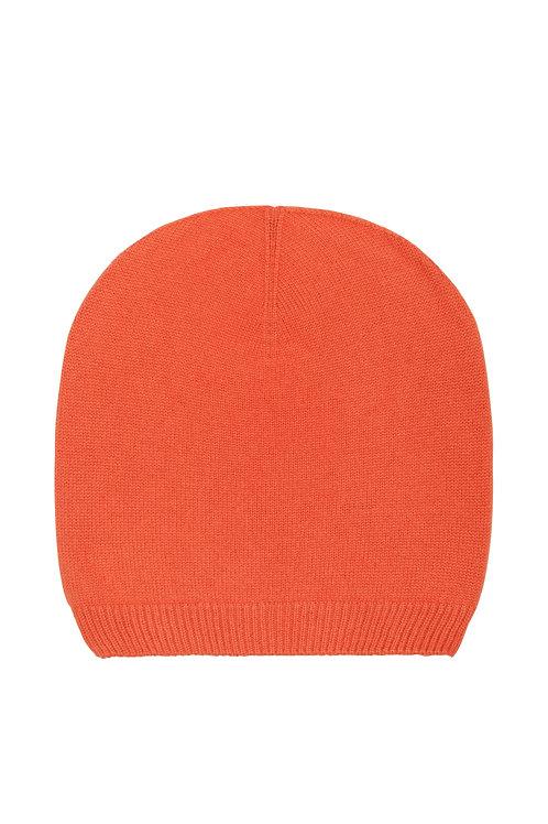 Kaschmirhaube orange