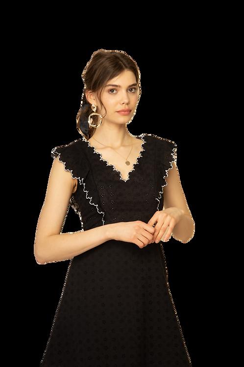 Cotton Lace Dress black