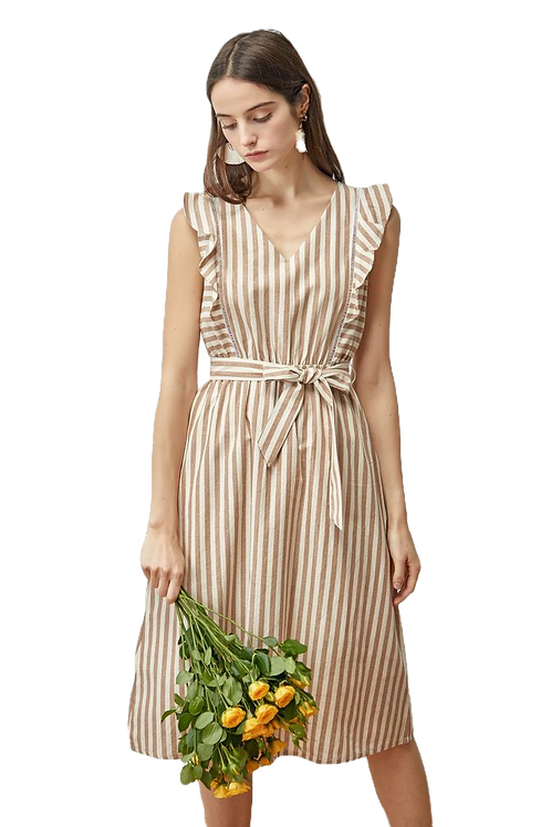 Cotton Stripes Dress
