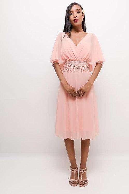 Kleid mit Capeärmeln
