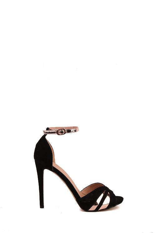 High Heel Black & Roségold