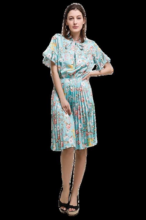 Volants Plissé Dress