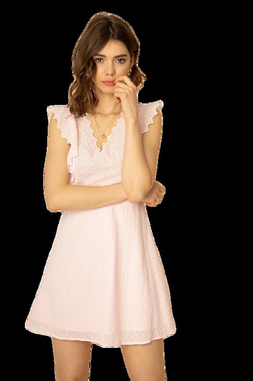 Cotton Lace Dress rosé