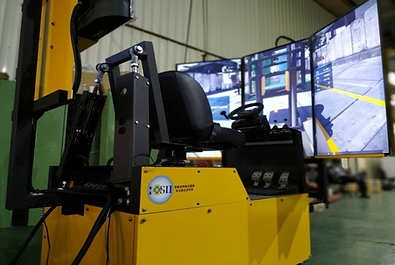 Pumpkin Studio developed a Forklift simulator and Training system for Taiwan government.