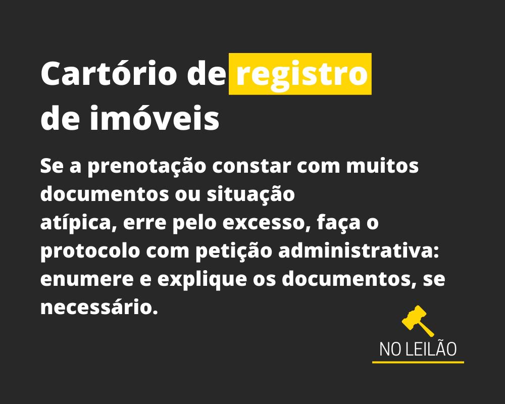 CARTÓRIO DE REGISTRO DE IMÓVEIS