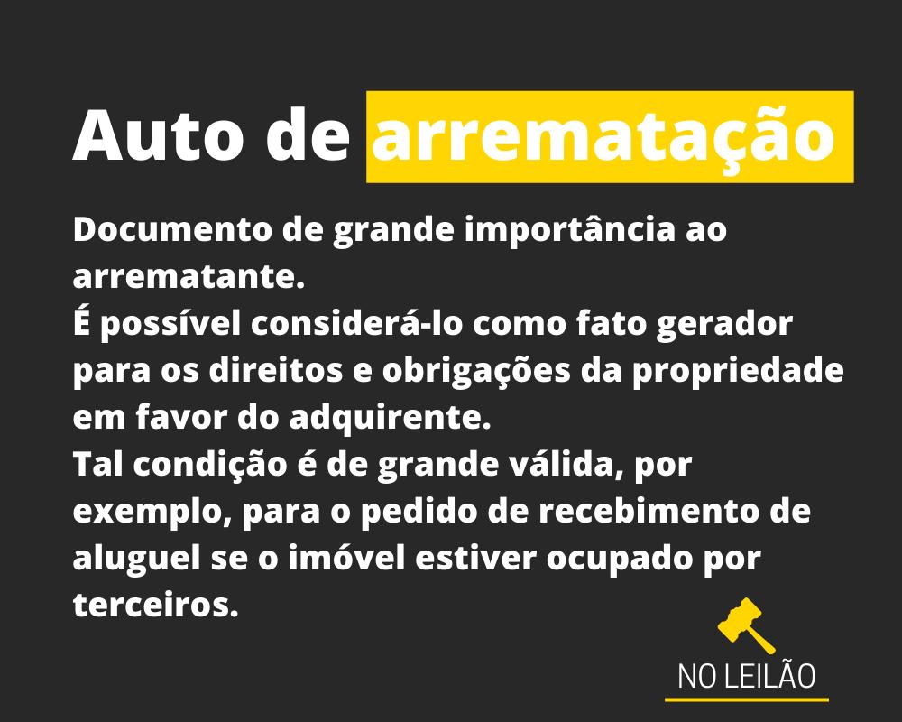 AUTO DE ARREMATAÇÃO