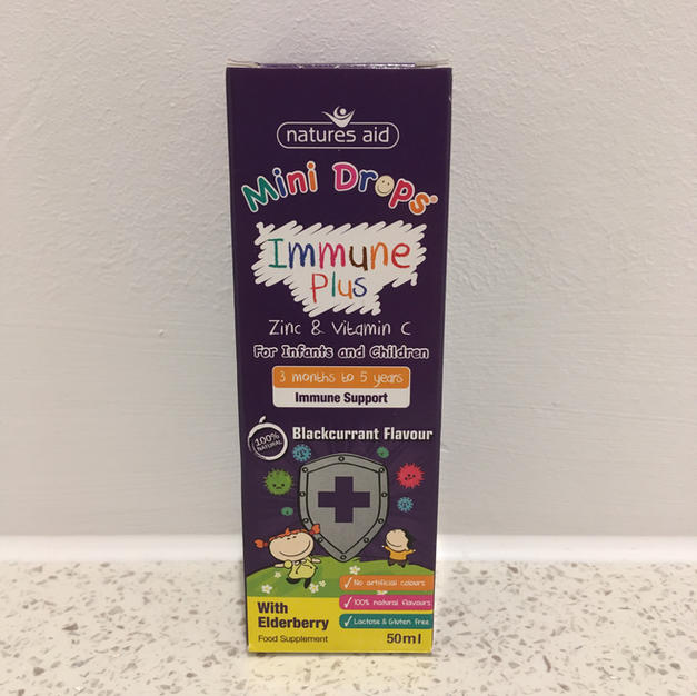 Nature Aid (up to 5 years) Immune-plus -mini drops £7.95