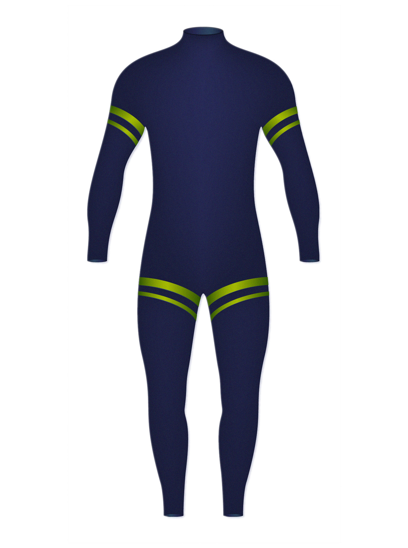 Blue and green wetsuit