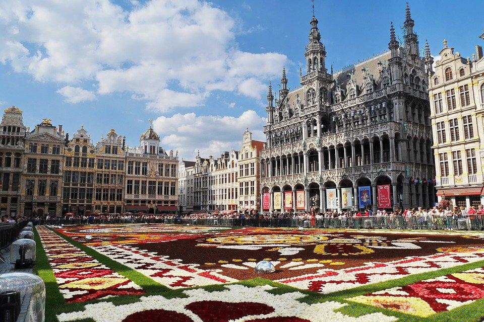 Tapete de flores Bruxelas