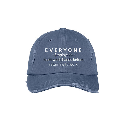 Everyone Must Wash Hands Hat
