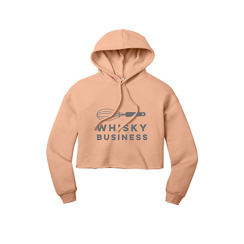 Whisky Business Cropped Hoodie