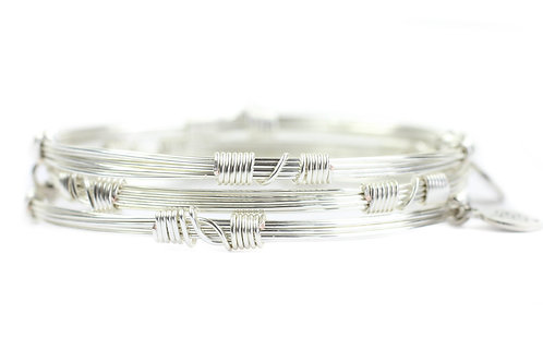 Silver Bangle Stackers
