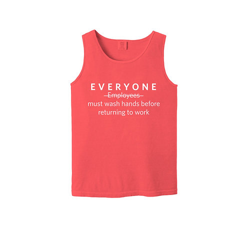 Everyone Must Wash Hands Unisex Tank