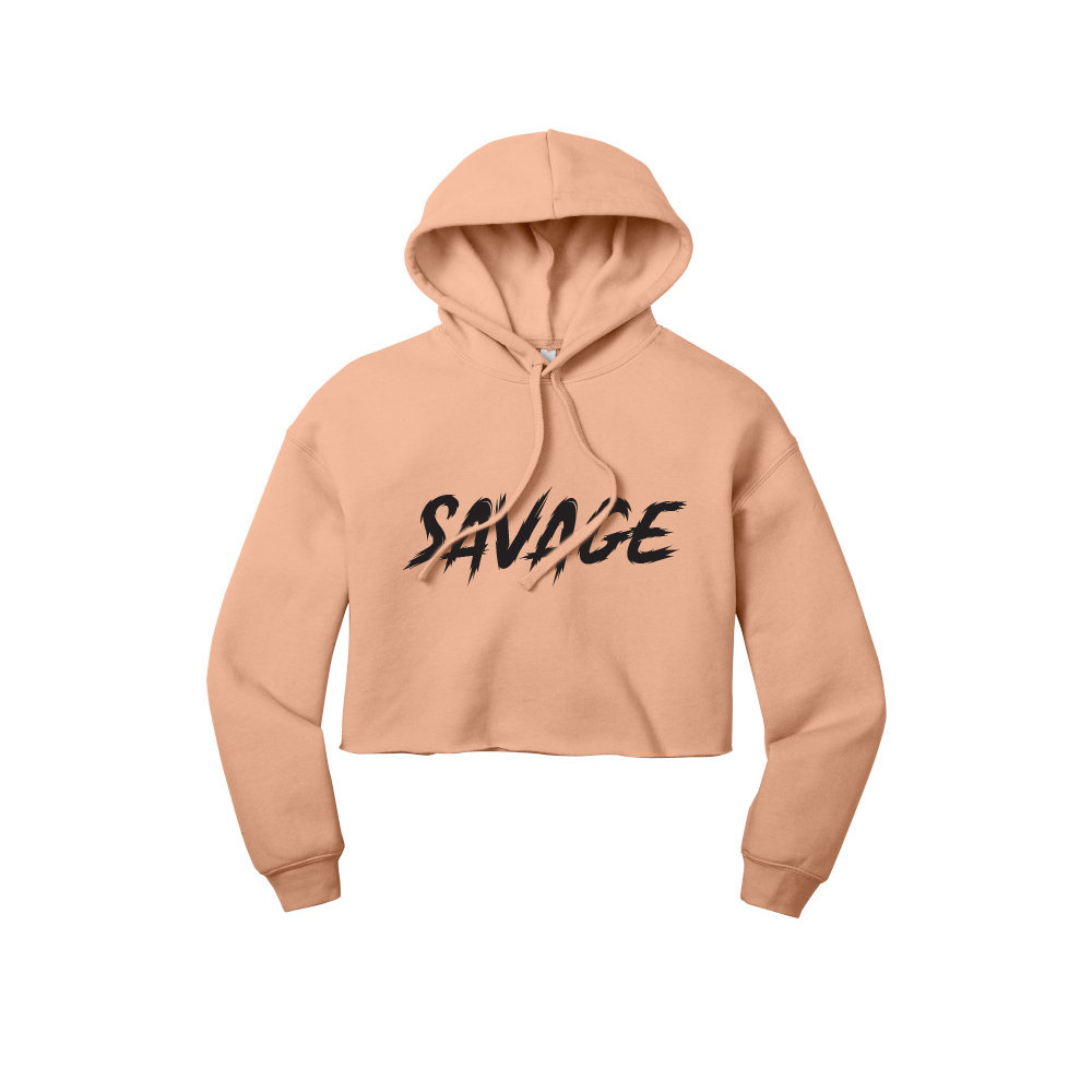 Sensitive Savage Cropped Hoodie ** Women/'s cropped hoodie