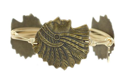 Antique Gold Micanopy Bangle