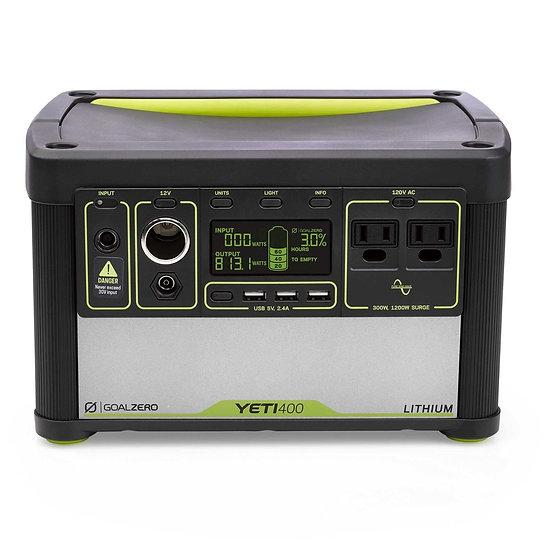 GOAL ZERO - YETI 400 LITHIUM PORTABLE POWER STATION (OPEN BOX)