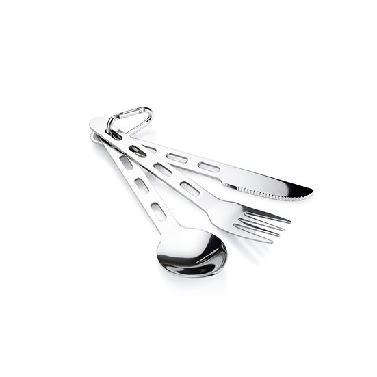 GSI OUTDOORS GLACIER STAINLESS 3 PC RING CUTLERY SET
