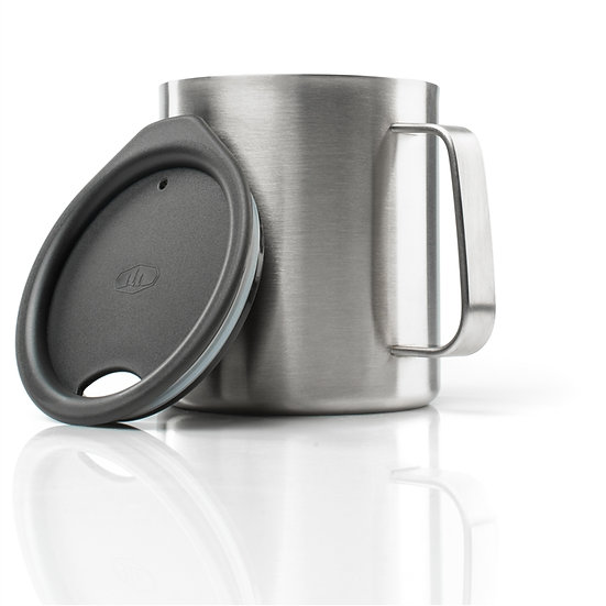 GSI OUTDOORS GLACIER STAINLESS 15 FL. OZ. CAMP CUP