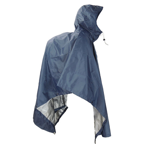 JR GEAR LIGHT WEIGHT PONCHO BLUE – LARGE