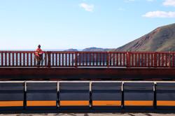 Worker on the Golden Gate Bridge