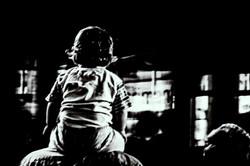 Kid alone black and white basel