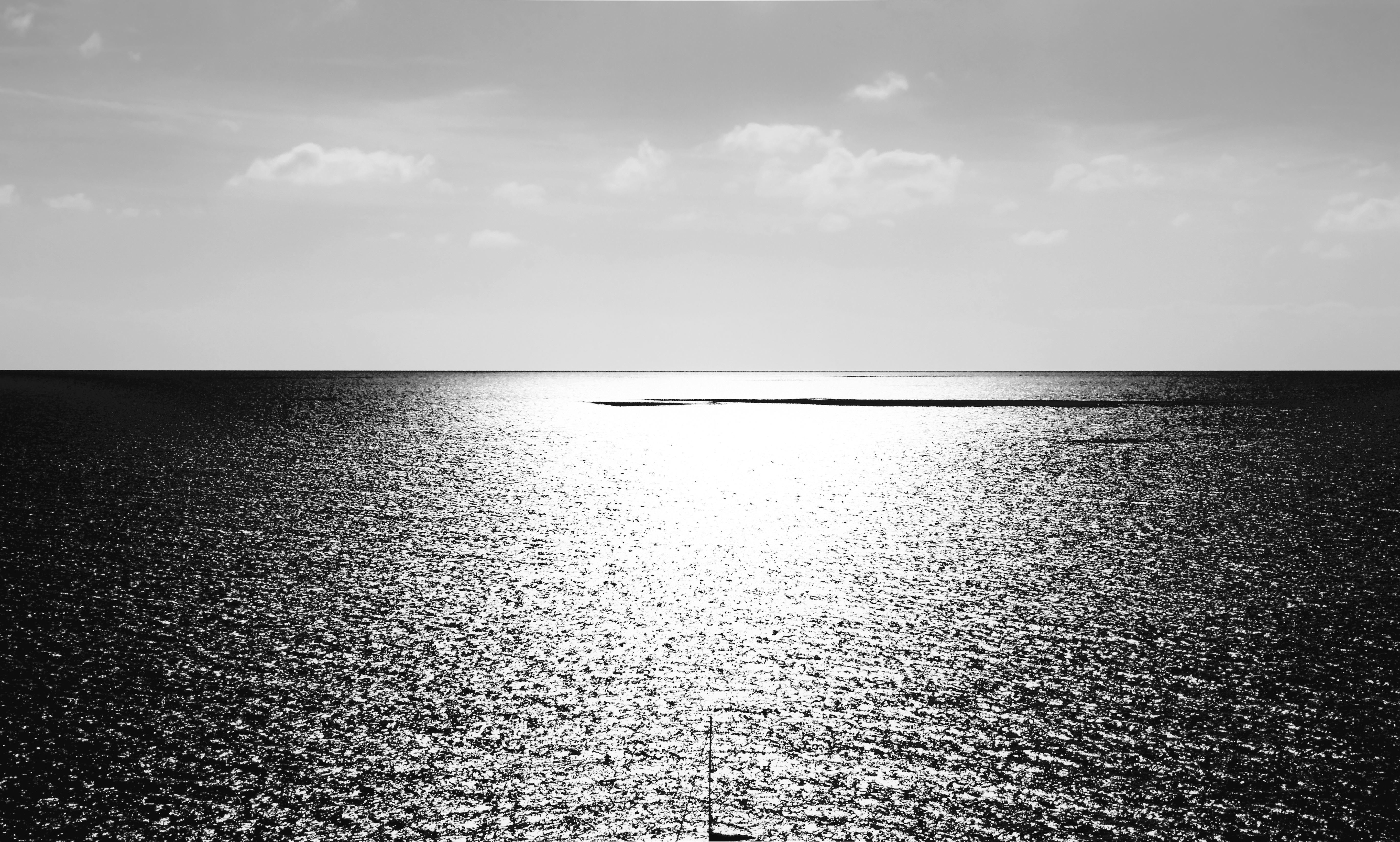 You and Me In corsica_bnw see sea
