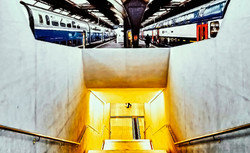 train zurich passing by underground