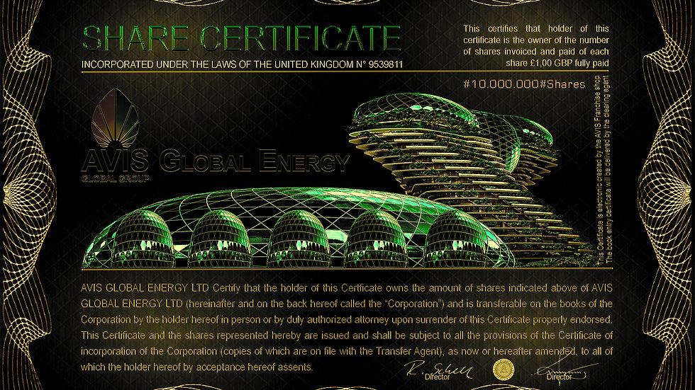 AVIS Global Energy LTD 10Million Shares