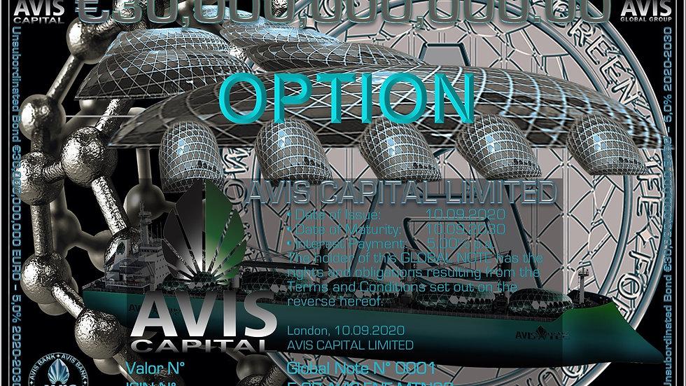 Option AVIS Capital EURO MTN 5 2030 Green Bond
