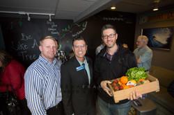 Adam Hammill w/ his Farm Box Raffle
