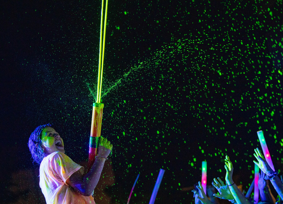 Incoming freshman participate in a glow zone party on Wednesday, Aug. 21st, 2019 during WKU Master Plan, an orientation program for incoming freshman to adjust to college life.