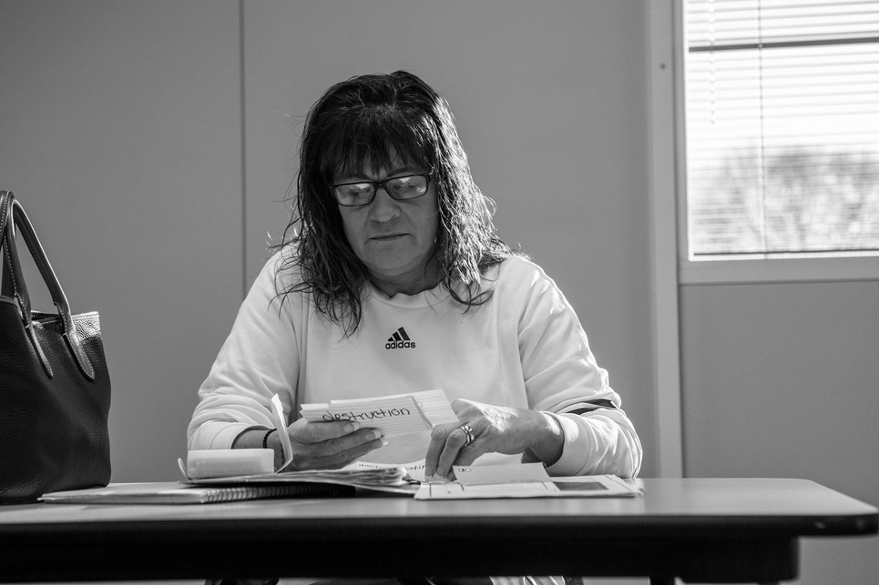 """Kremer studies before her sociology class final. """"You know what's funny? I literally will park in the exact same spot 'cause I'll do whatever I can to just get that good grade on one of my tests. Like I'm not usually superstitious but if something works once then I won't mess with it again,"""" she laughs."""
