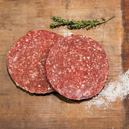 Runder hamburgers ca. 250 gram (kilo prijs €12,50)