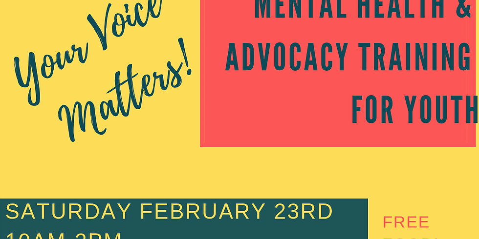 Mental Health Self Advocacy Training for Youth