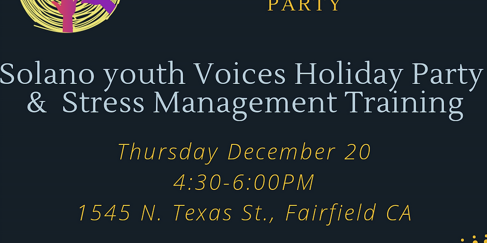 Holiday Party & Leadership Training- Dealing with Stress