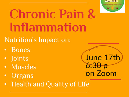 Nutrition and Chronic Pain & Inflammation