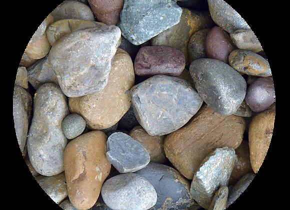 """1-3"""" Multi Color River Stone"""
