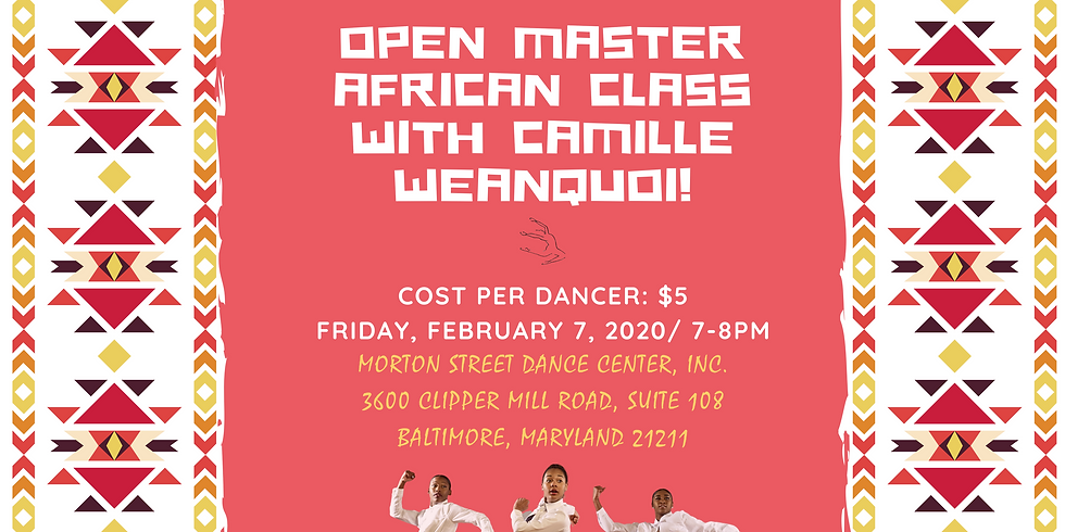 Master African Class with Camille Weanquoi
