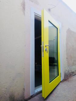 Yellow Security Door