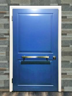 Blue security Door
