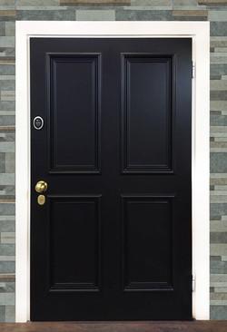 Traditional black door