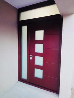 Front door with security glazing
