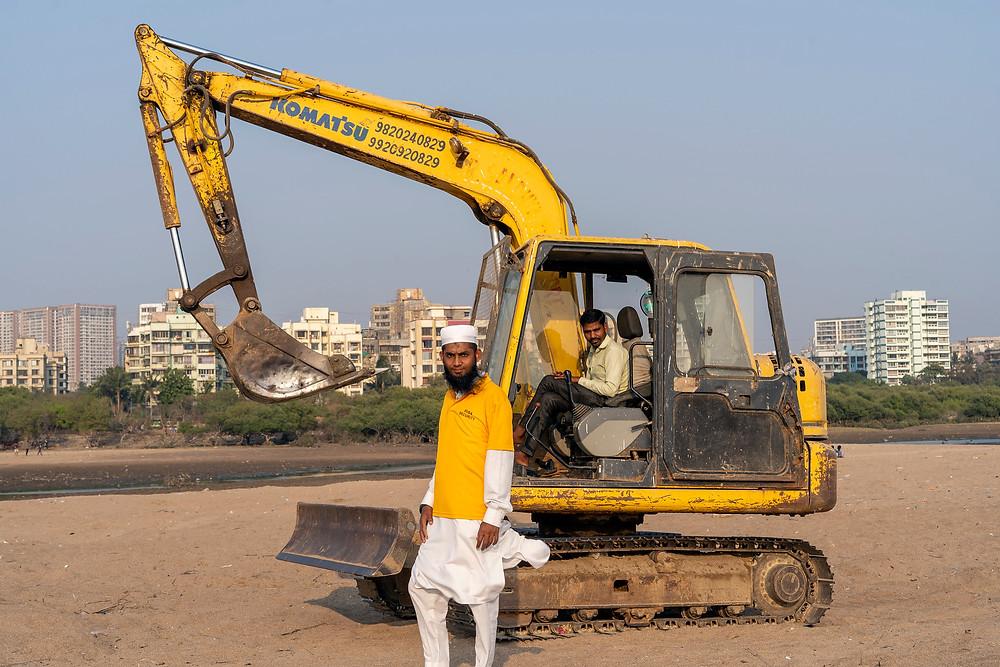BMC employees patrolling Versova Beach