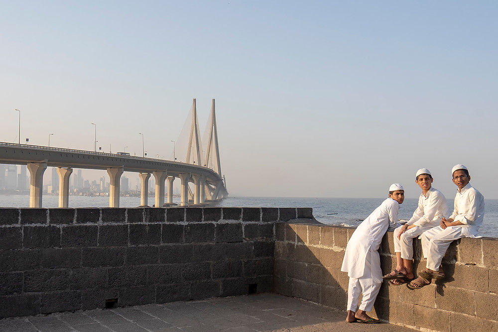 Bandra Fort, with view of Sea Link. Mumbai, India