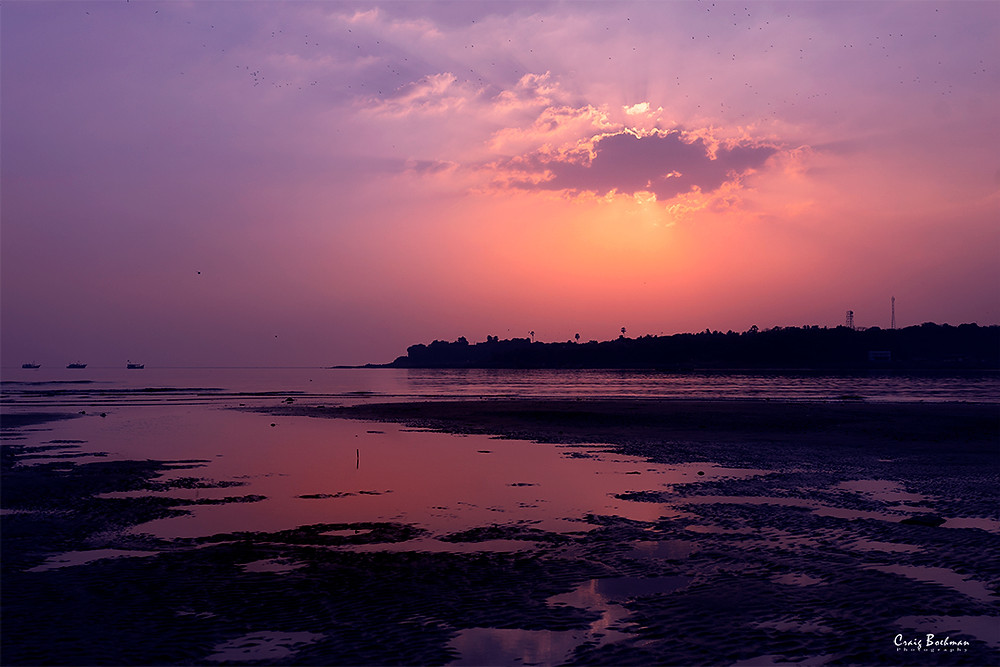 Sunset at Versova Beach.